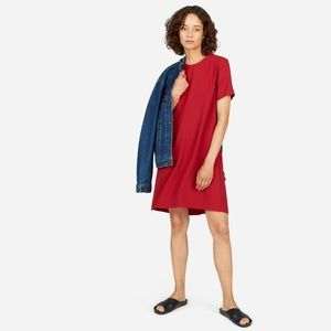 Everlane Red Japanese GoWeave A-Line Dress Size 8